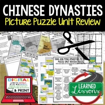 Chinese Dynasties Ming & Tang Picture Puzzle Unit Review,