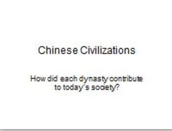 Chinese Dynasties PowerPoint