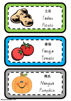Chinese Flashcards - food