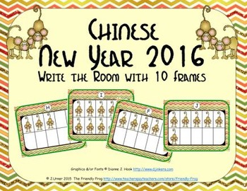 Chinese New Year 2016 - Counting with Ten Frames {Subitizing}