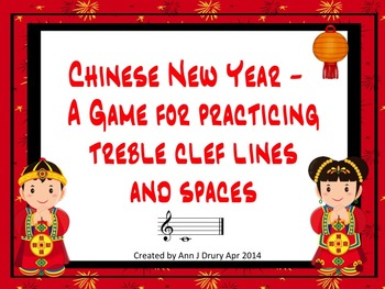 Chinese New Year - A Game for Practicing Treble Clef Lines