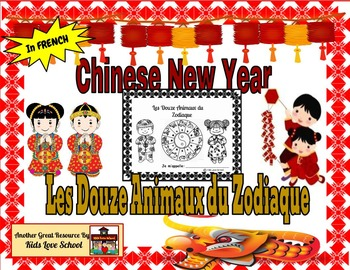 Chinese New Year Animal Zodiac Booklet in French-FSL and F