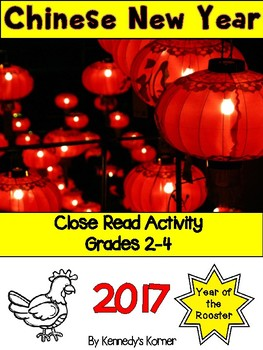 Chinese New Year Close Read 2017~Vocab, Comprehension, Wri
