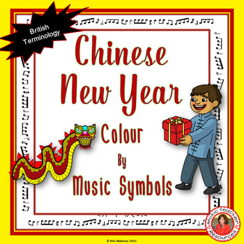 Chinese New Year Colour by Music Symbol: British Terminology