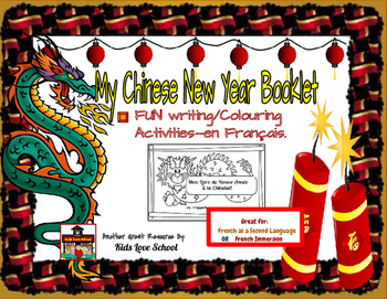 Chinese New Year Coloring Booklet-In French! Great for FSL