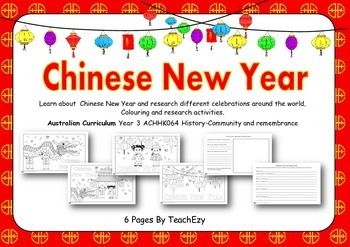 Chinese New Year Coloring and Activity sheets