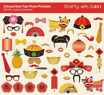Chinese New Year Photo Props, Chinese Theme Photo Props, A