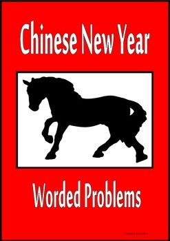 Chinese New Year math activities worded problems