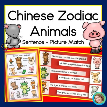 Chinese New Year: Zodiac Animals Sentence-Picture Match