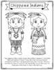 Chippewa Indians Coloring Page Activity and Poster, Native