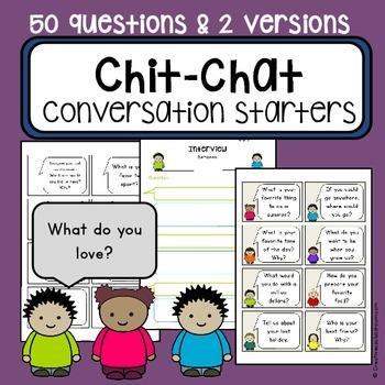 Conversation starter topic task cards -  communication car