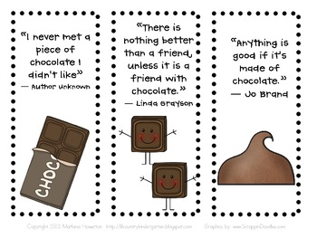 Chocolate Bookmarks for National Chocolate Day