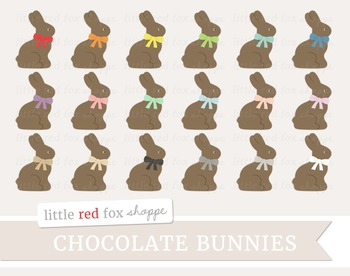 Chocolate Bunny Clipart; Easter