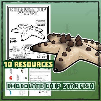 Chocolate Chip Starfish -- 10 Resources -- Coloring Pages,