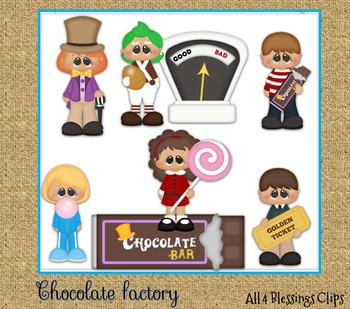 Chocolate Factory CLIPART Clip Art Cu Ok ~ Wonka Movies Ki