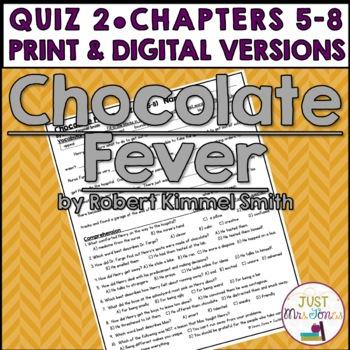 Chocolate Fever Quiz 2 (Ch. 5-8)