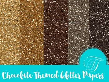 Chocolate Inspired Glitter Pattern Digital Scrapbook Pack
