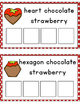 Chocolate Strawberry Shape Sorting