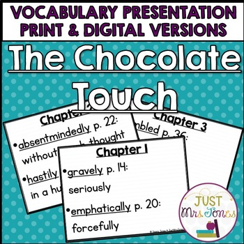 The Chocolate Touch Vocabulary Presentation