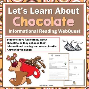 Chocolate Webquest Internet Scavenger Hunt Common Core Rea