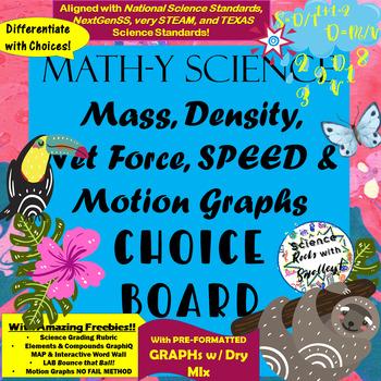 Calculating Speed, Density, Mass, Volume & Motion Graphs C
