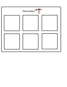 Choice Board 6 spots (Boardmaker PDF)