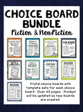 Choice Board Bundle for Fiction and Non-Fiction (Growing Bundle)