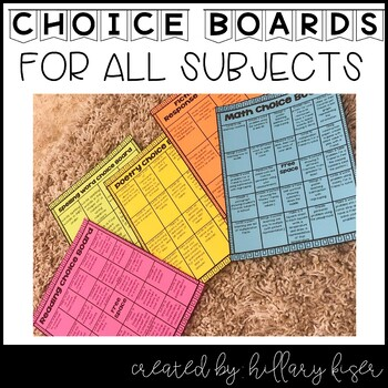 Choice Board Bundle