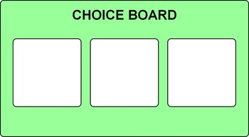 Choice Board Visual Support