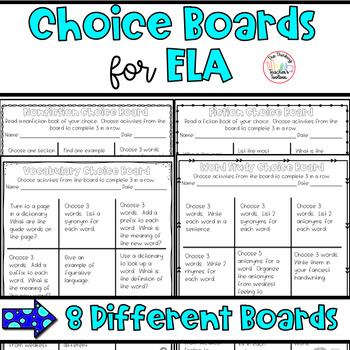 Choice Boards for Centers/Homework: Speaking & Listening,