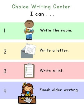 Choice Writing Center Options
