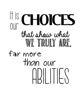 Choices Inspirational Quote