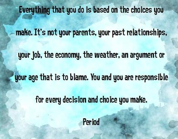 Choices Poster - Black