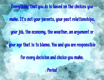 Choices Poster - Blue