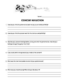 Choir Concert Reflection