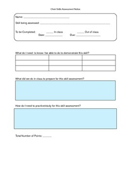 Choir Skill Assessment Notice