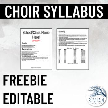 Choir Syllabus (Editable)