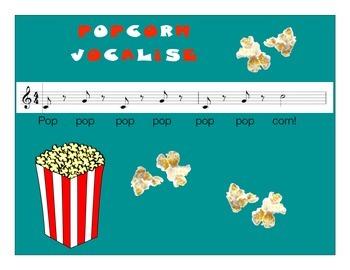"Choir or Singing Energetic Warm-Up using Vocalise ""Popcorn"""