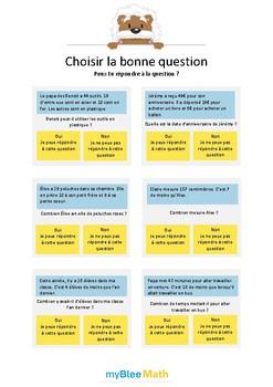Choisir la bonne question 3 - Peux-tu répondre à la questi