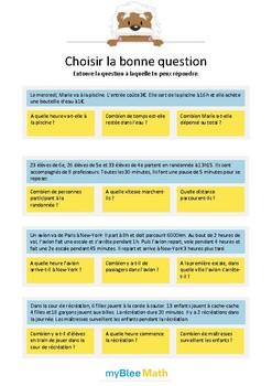 Choisir la bonne question 6 - A quelle question peux-tu ré