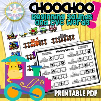 Alphabet and Phonics Centers - Choo! Choo!