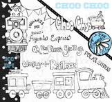 Choo Choo - Train Line Art