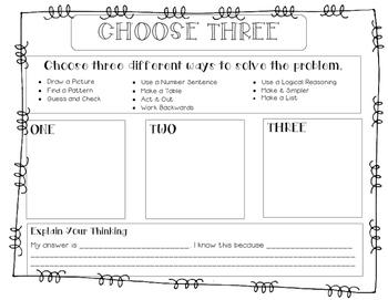 Choose 3 Problem Solving