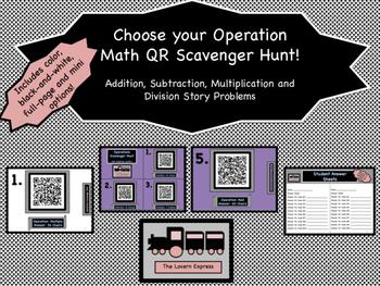 Choose Your Operation QR Scavenger Hunt