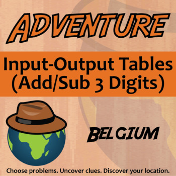 Choose Your Own Adventure -- Input-Output Tables (Add/Sub
