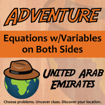 Choose Your Own Adventure -- Multi-Step Equations -- Unite