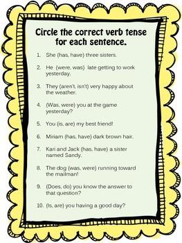 Choose the Correct Verb Tense