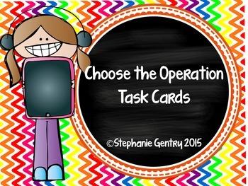 Choose the Operation Task Card Set
