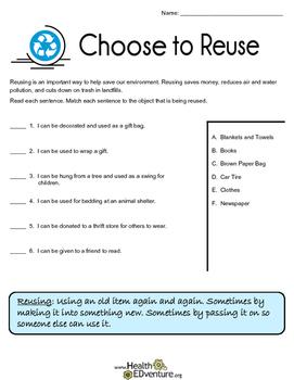 Saving the Environment: Reusing