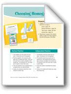Choosing Homographs